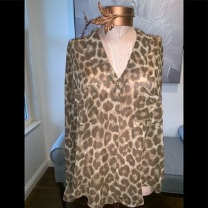 Free People blouse in Animal print size M